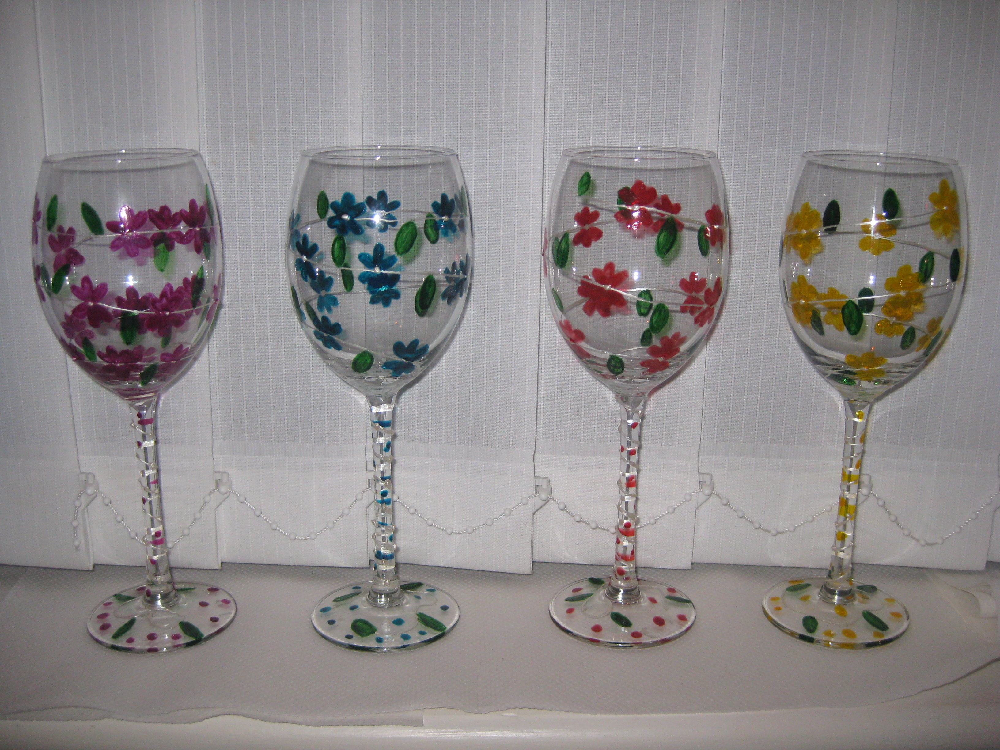 Flower Designs For Glass Painting